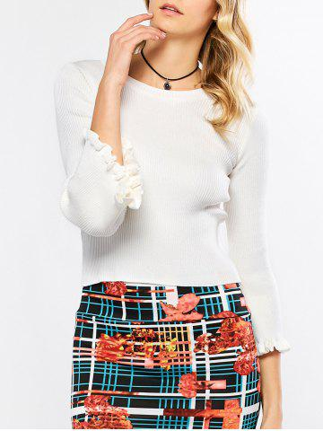 Hot Flare Sleeve Knit Sweater
