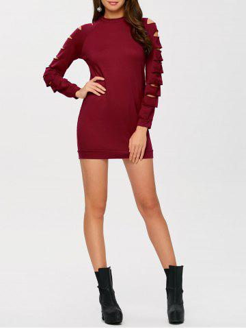 Hot Long Sleeve Ripped Bodycon Day Dress