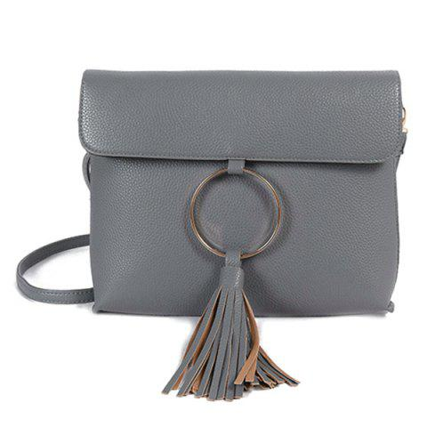 Fancy Vintage Circle Ring Loop Tassels Crossbody Bag