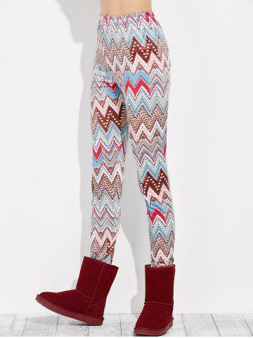 Discount High Rise Leggings With Zigzag Print - XL MULTI Mobile