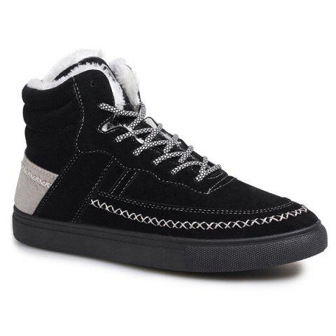 Store Flocking Criss-Cross Suede High Top Shoes