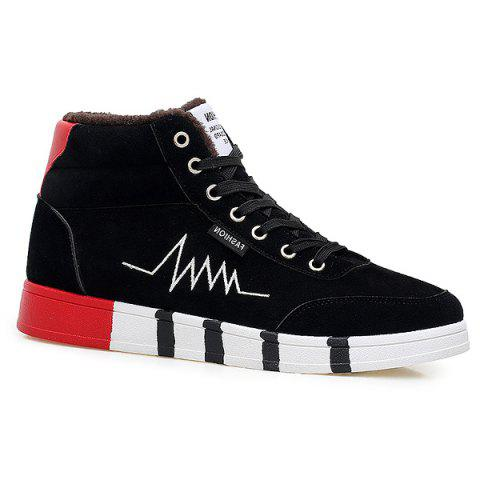 Fashion High Top Suede Flocking Skate Shoes