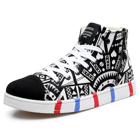 Outfit High Top Printed Canvas Shoes