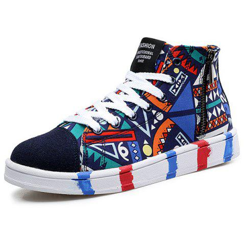 Fancy High Top Printed Canvas Shoes