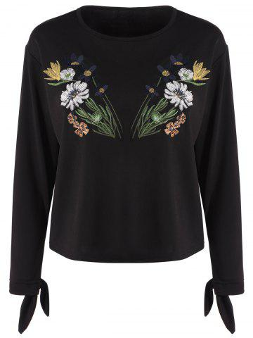 Shop Long Sleeve Floral Embroidered Top
