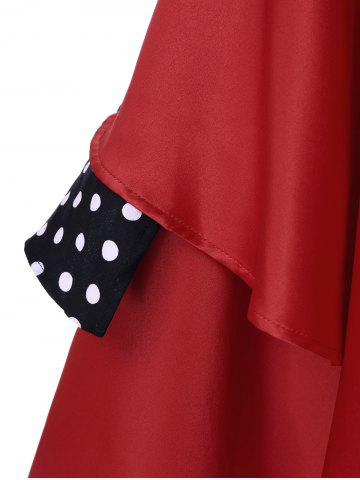 Chic Layered Polka Dot Vintage Dress - XL RED Mobile
