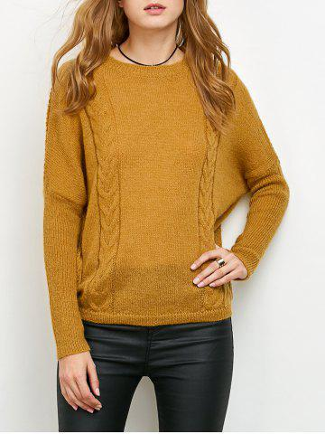 Hot Batwing Sleeve Cable Jumper