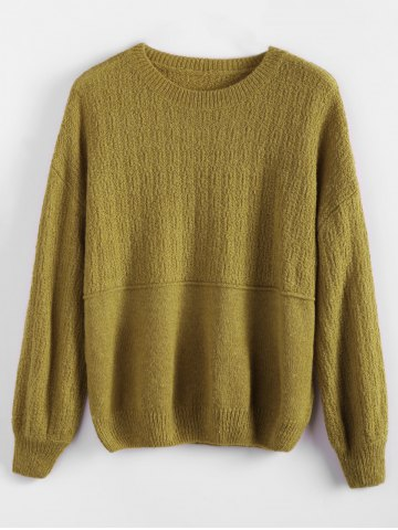 Store Dropped Shoulder Basic Sweater BLUISH YELLOW ONE SIZE