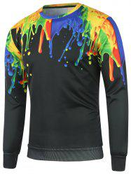 Crew Neck Paint Splash Sweatshirt