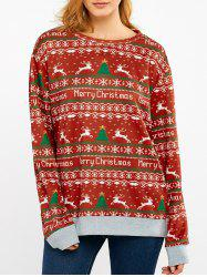 Merry Christmas Print Sweatshirt