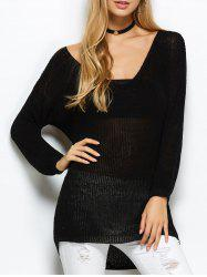 Open Knit Long Sweater