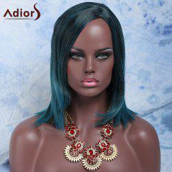 Faddish Short Mixed Color Straight Side Parting Women's Synthetic Hair Wig