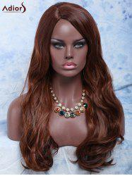 Long Side Parting Wavy Mixed Color Women's Fashion Synthetic Hair Wig