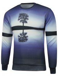 Crew Neck Tree 3D Print Sweatshirt