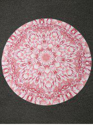 Bohemian Lotus Print Round Shape Beach Throw -