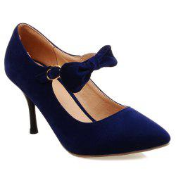 Pointed Toe Bow Stiletto Heel Pumps