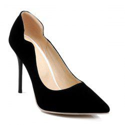 V-Shaped Cut Pointed Toe Pumps