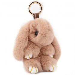 Rabbit Soft Plush Pendant Keyring Bag Keychain - COFFEE