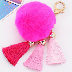 Bag Keychain Soft Flush Pom Ball Keyring With Tassel - TUTTI FRUTTI