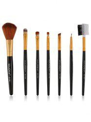 7 Pcs Fiber Makeup Brushes Set -