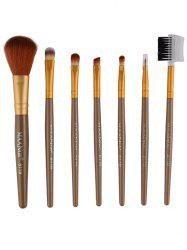 7 Pcs Fiber Makeup Brushes Set
