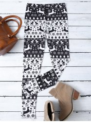 Fawn Print Christmas Leggings -