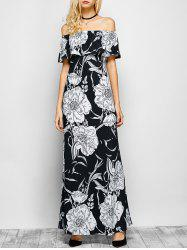 Floral Off The Shoulder Maxi Dress -