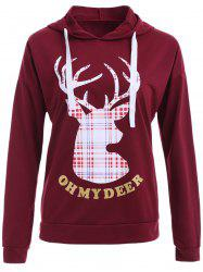 Christmas Reindeer Print Patterned Hoodies