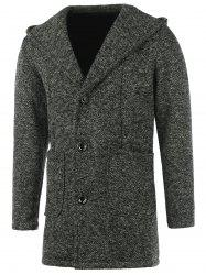 Heathered Patch Pocket Hooded Coat -