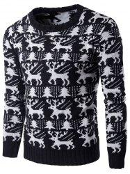 Tree Deer Pattern Knitted Christmas Sweater