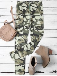 Skinny Camouflage Leggings - CAMOUFLAGE COLOR