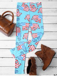 Skinny Elephant Patterned Leggings