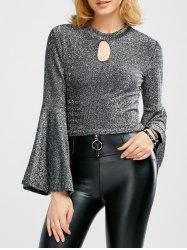 Bell Sleeve Glitter Top -