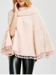 Wool Poncho With Collar -