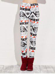 High Rise Leggings With Geometric Print