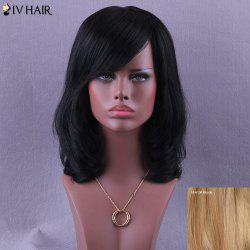 Medium Inclined Parting Natural Straight Siv Human Hair Wig
