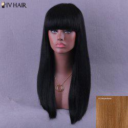 Long Neat Bang Natural Straight Siv Human Hair Wig