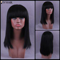 Long Full Bang Straight Siv Human Hair Wig