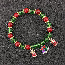 Christmas Bells Bows Beads Bracelet