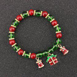 Christmas Bells Gift Charm Beaded Bracelet