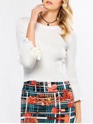 Flare Sleeve Knit Sweater -