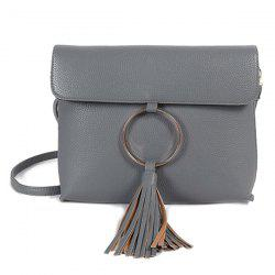 Vintage Circle Ring Loop Tassels Crossbody Bag -
