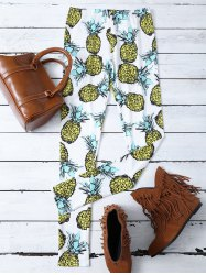 Skinny Pineapple Print Stretchy Leggings