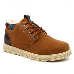 Flocking Lace Up Suede Casual Shoes -