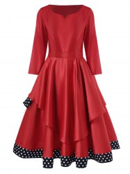 Layered Polka Dot Vintage Dress