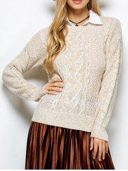 Cable Knit Marled Sweater