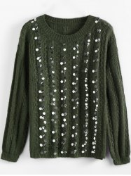 Crewneck Sequins Sweater -