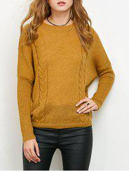 Batwing Sleeve Cable Jumper -