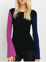 Ribbed Color Block Sweater -