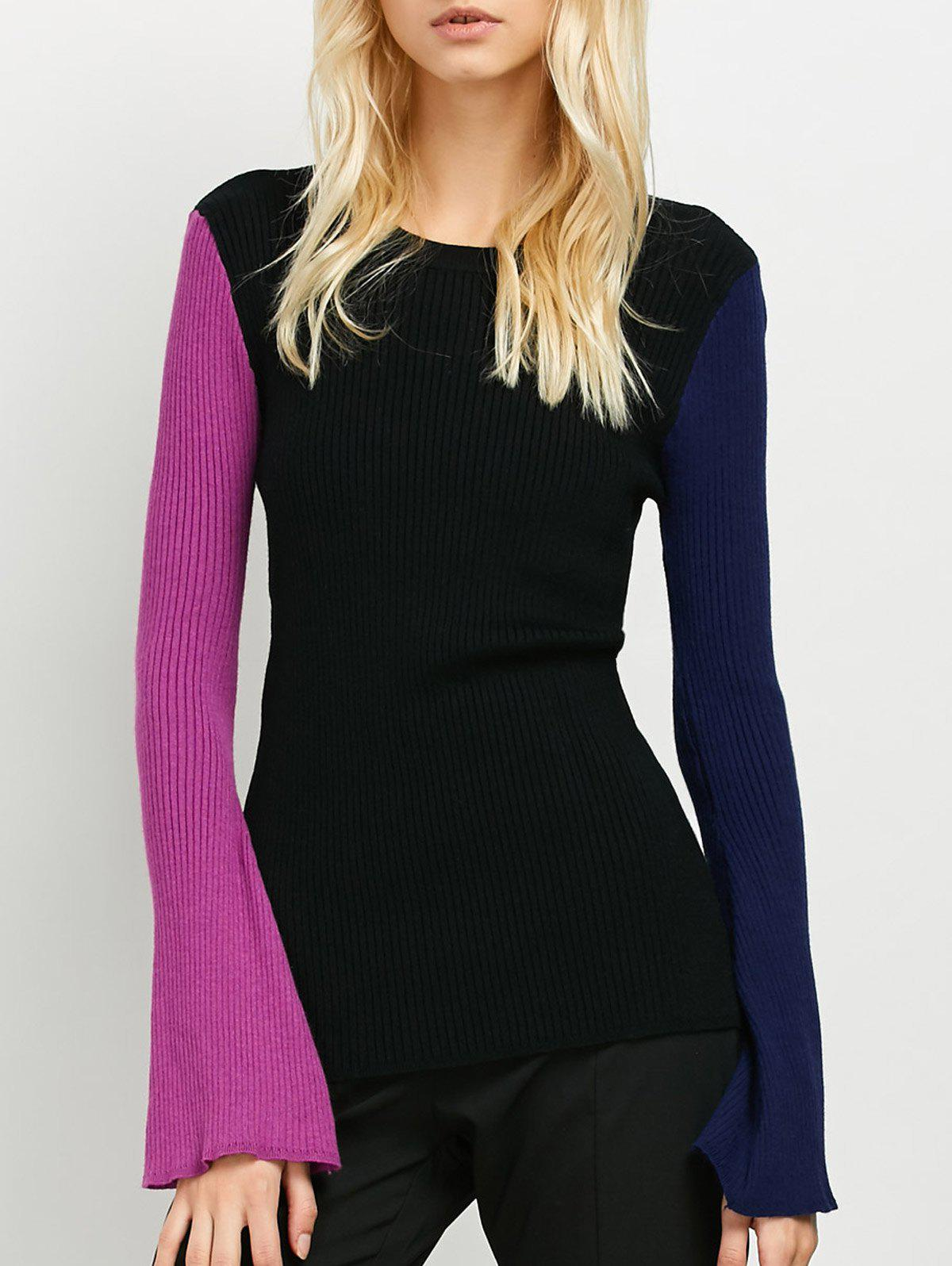 Buy Ribbed Color Block Sweater